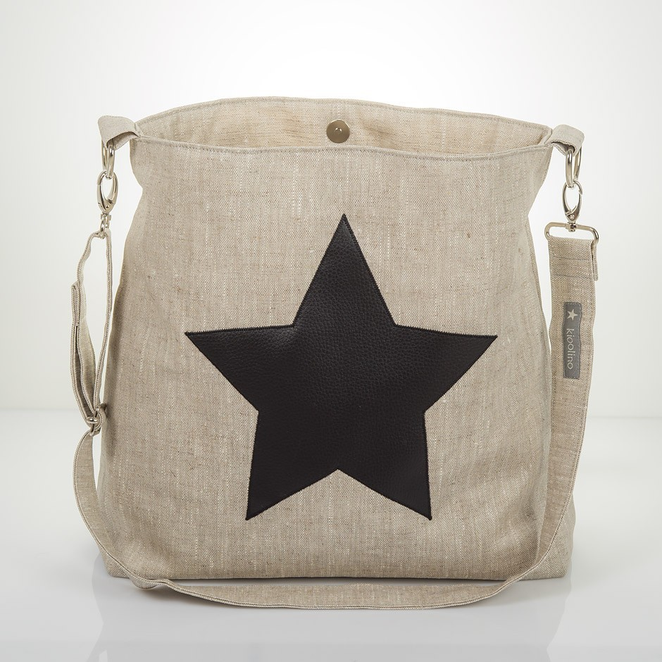 Black Star Bag mit Schüsselanhänger