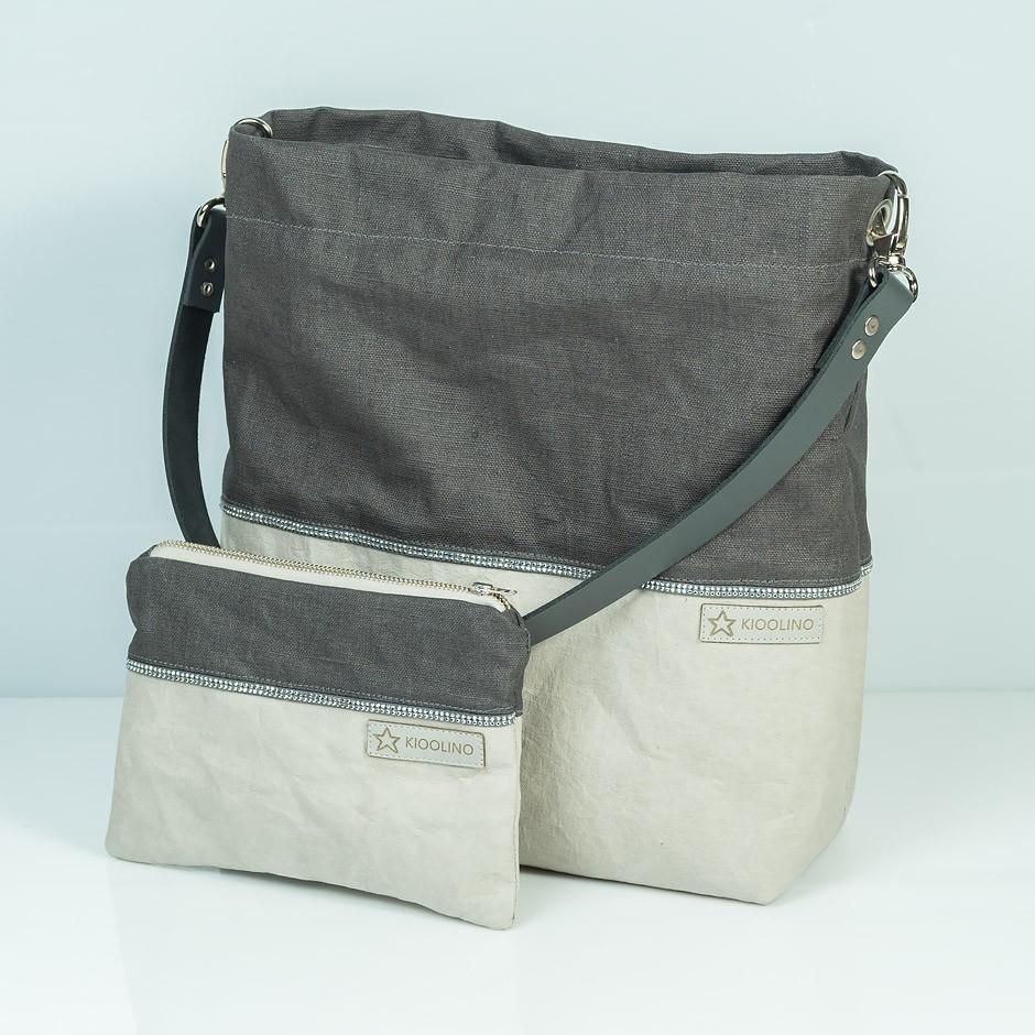 Schulterhandtasche + Etui